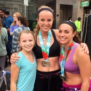 After finishing my first marathon on February 15th.  My little sister Nikki is on the left and cousin Jillian on the right.